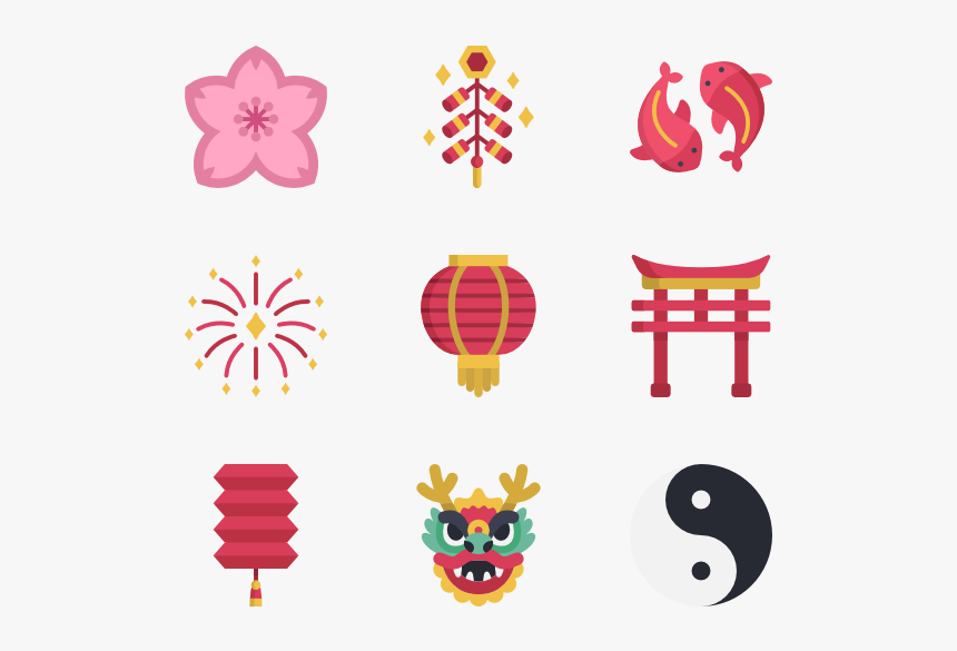 Chinese New Year Decoration Png Free Image - Chinese New Year Icon, Transparent Png, Free Download