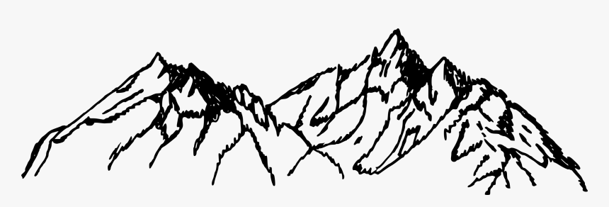 Mountains Drawing Png, Transparent Png, Free Download