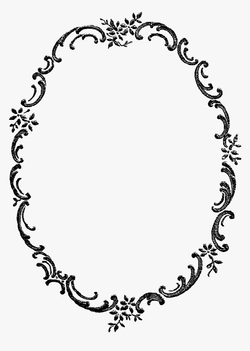 Digital Stamp Design - Floral Oval Border Png, Transparent Png, Free Download