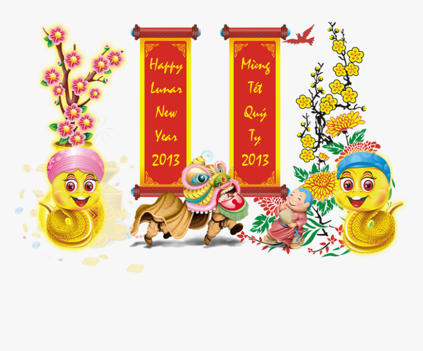 Happy Vietnamese Lunar New Year - Vietnamese New Year Png, Transparent Png, Free Download