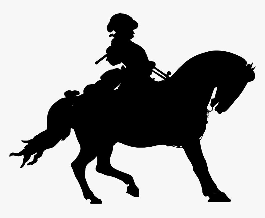 Man On Horse Statue Silhouette Clip Arts - Silhouette Of Man On Horse, HD Png Download, Free Download