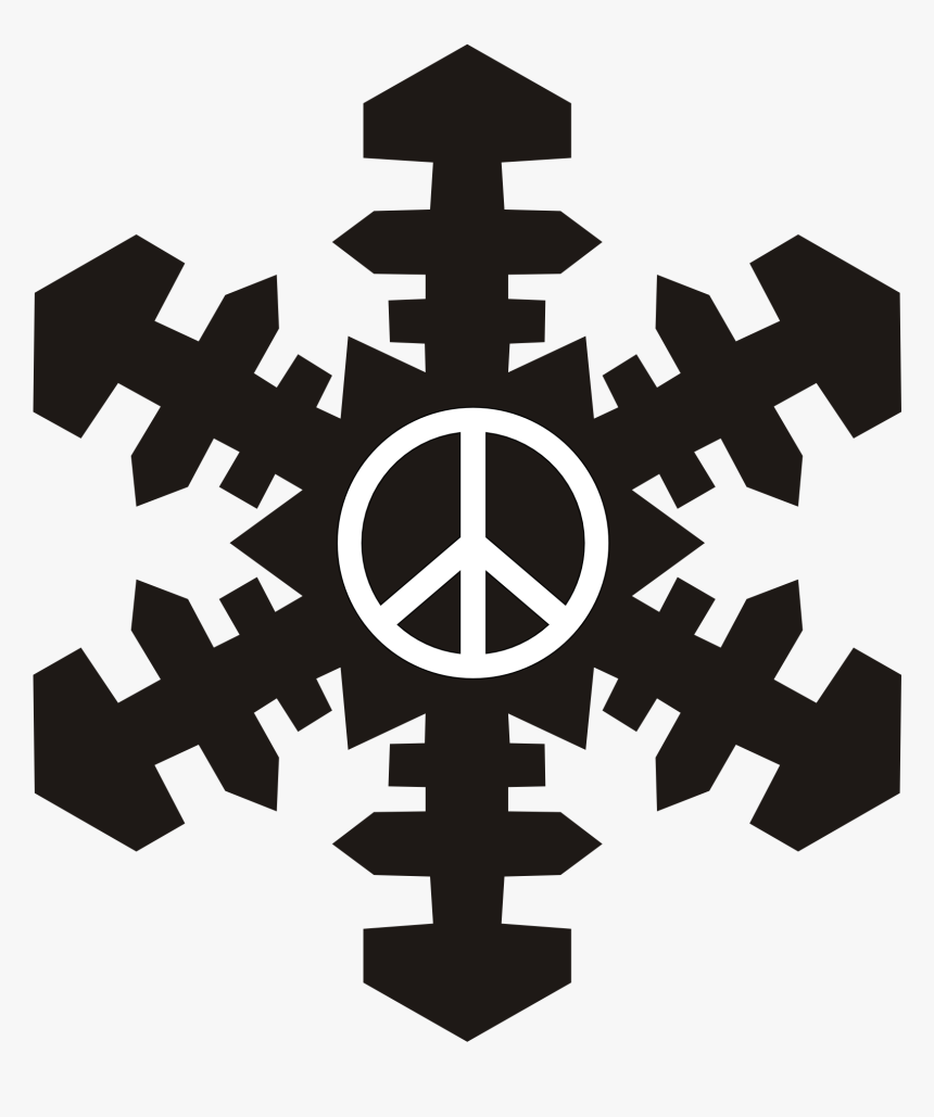 Snowflakes Clipart Simple - Snowflake Clip Art Black, HD Png Download, Free Download