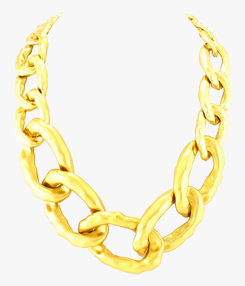 Thug Life Chain Png - Gold Chain Png For Picsart, Transparent Png, Free Download