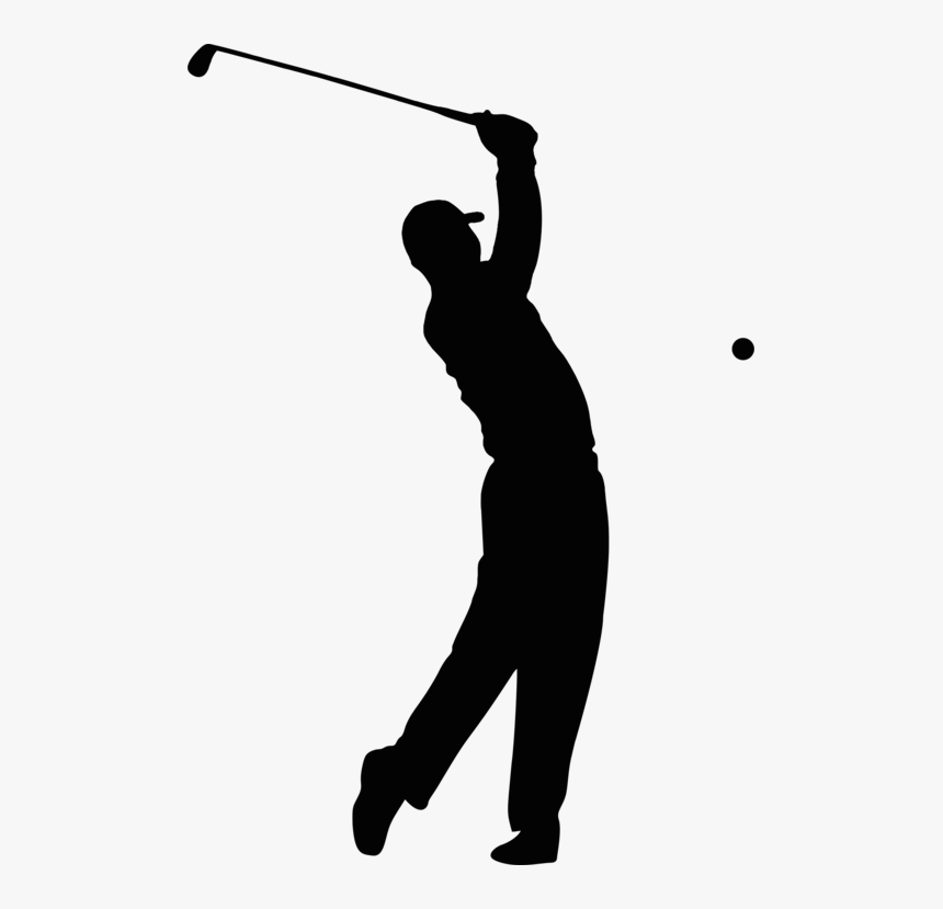 Transparent Golf Club Clip Art Golfer Silhouette Images Free Hd Png Download Kindpng