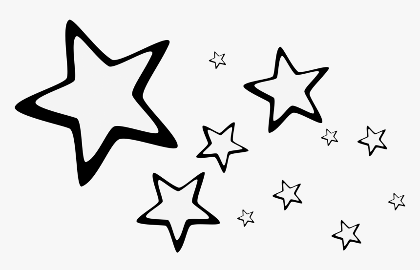 Star Blue Desktop Wallpaper Drawing White - Stars Drawing, HD Png Download, Free Download