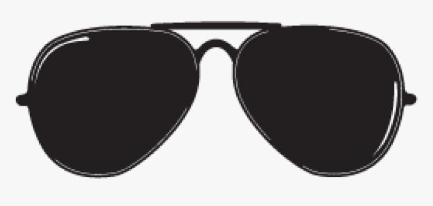 Aviator Sunglasses Transparent Background - Black Aviator Sunglasses Transparent, HD Png Download, Free Download