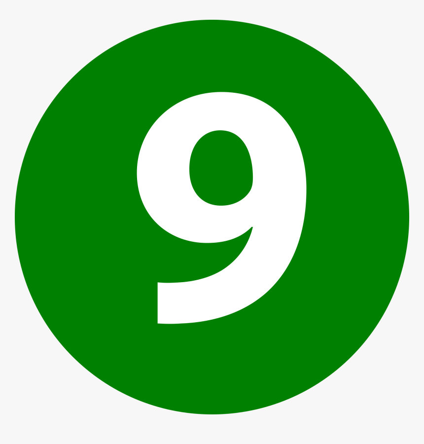 Number 9 Png - Number 9 Is Green, Transparent Png, Free Download