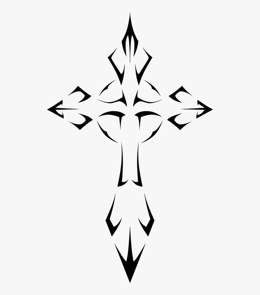 Cross Cruz Tattoo Tatuagem Tribal Lucianoballack Best Tribal Cross Tattoo Hd Png Download Kindpng