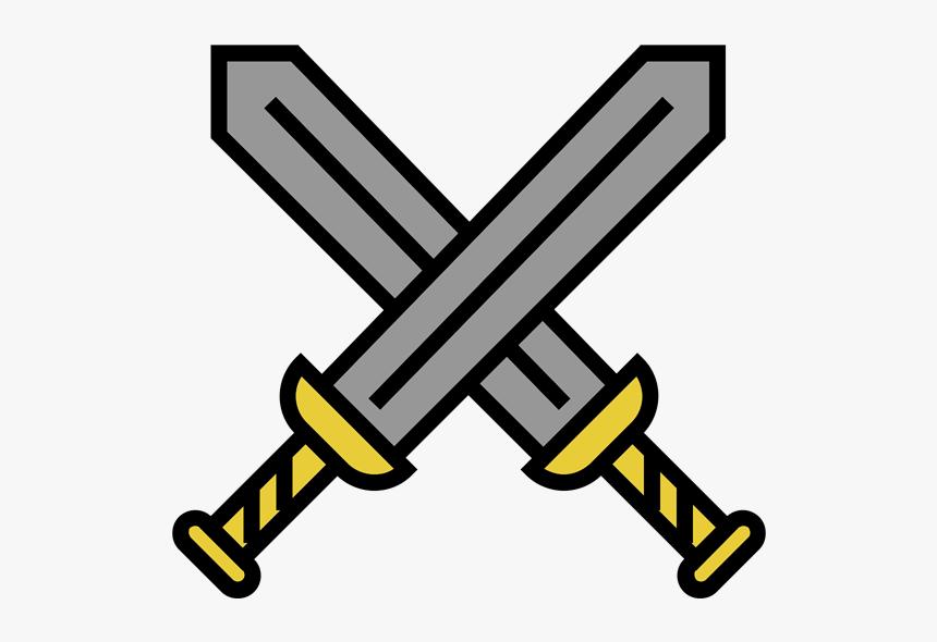trojan sword clipart outline - 546×510