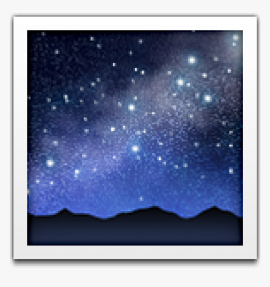 Night Sky Emoji Iphone, HD Png Download, Free Download