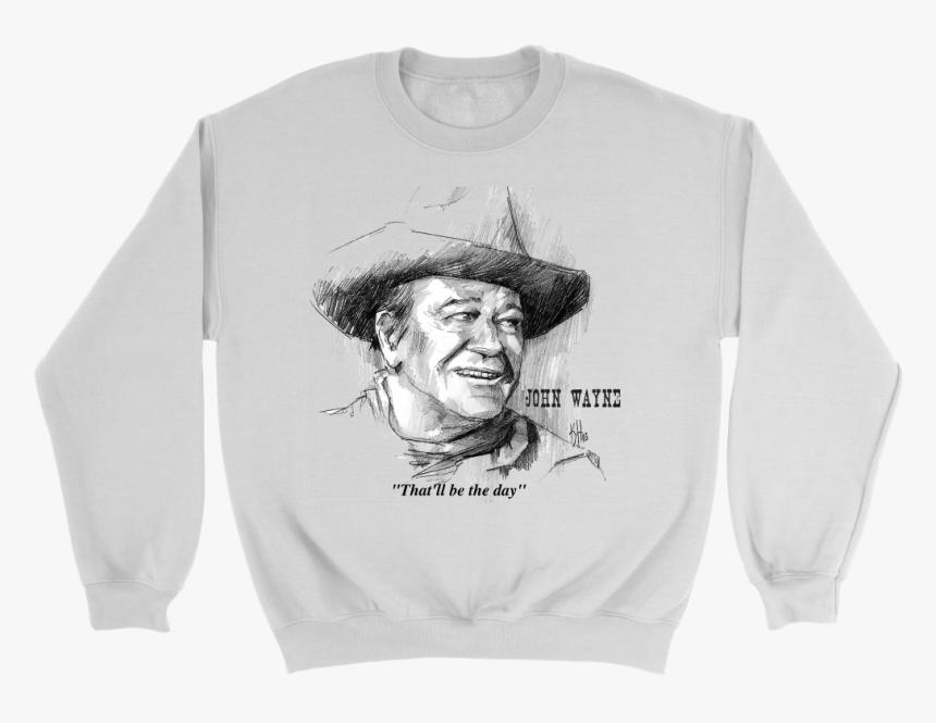 John Wayne Crewneck Sweatshirt - Crew Neck, HD Png Download, Free Download