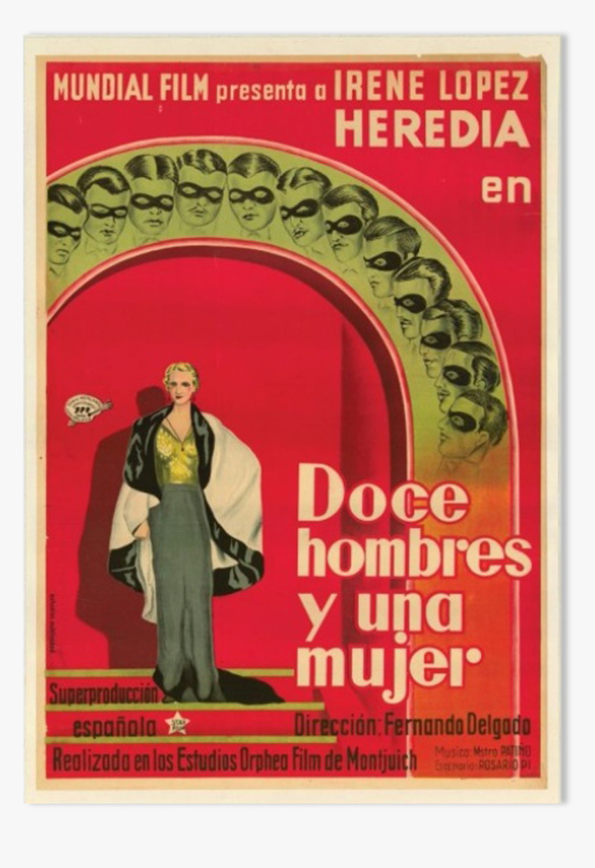 "Old Poster Of The Movie Doce Hombres Y Una Mujer""  - Poster, HD Png Download, Free Download"