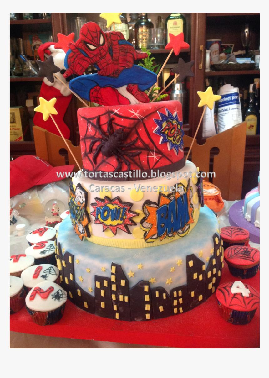 Mejores Tortas Decoradas Del Hombre Araña, HD Png Download - kindpng