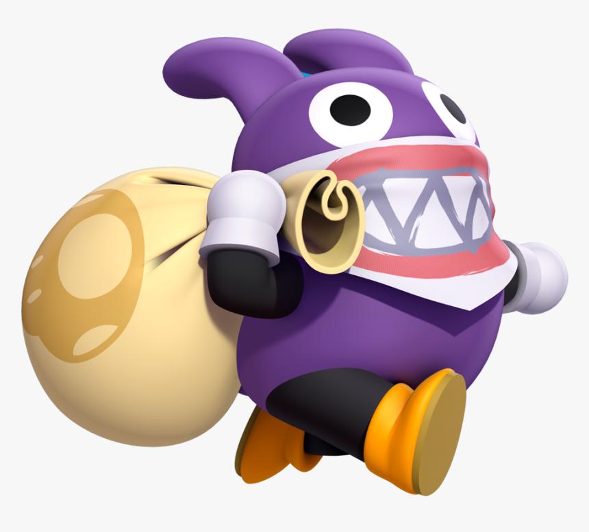 New Super Mario Bros U Deluxe Nabbit, HD Png Download, Free Download