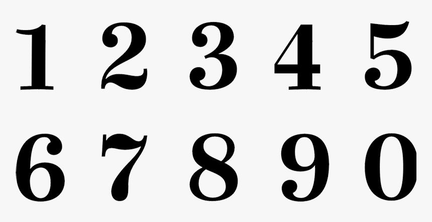 Stencil Number Letter Font - Number Font Tattoo, HD Png Download, Free Download