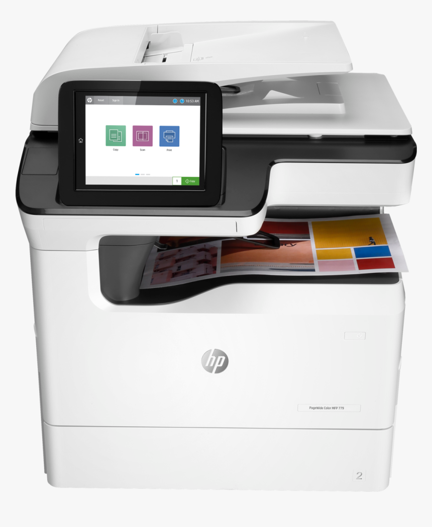 Hp Pagewide Color Mfp 779dn Printer Us/canada - Hp Pagewide Color Mfp 779dn, HD Png Download, Free Download