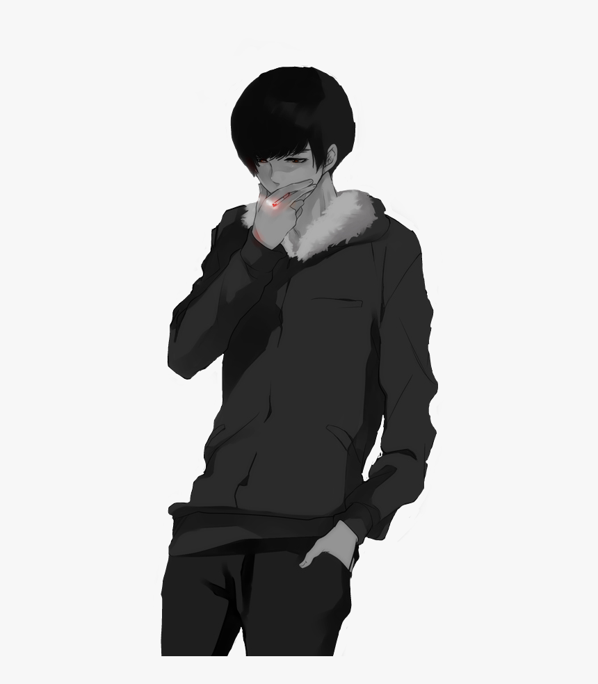 #anime #cigarette #smoke #animeboy #animeaesthetic - Aesthetic Anime Boy Smoking, HD Png Download, Free Download