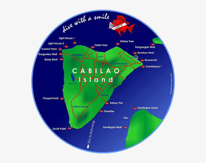 Cabilao Dive Sites, HD Png Download, Free Download