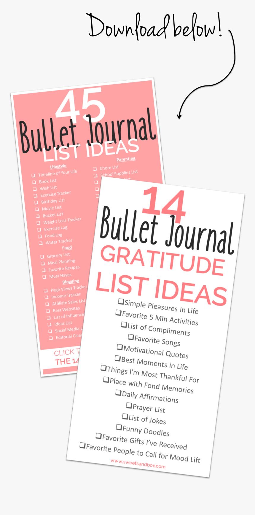 Download Bullet Journal Lists   Bullet Journal, HD Png Download ...