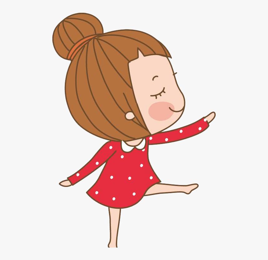 Dance Clip Art Ballet Cartoon Girl Dance Cartoon Png Transparent Png Kindpng