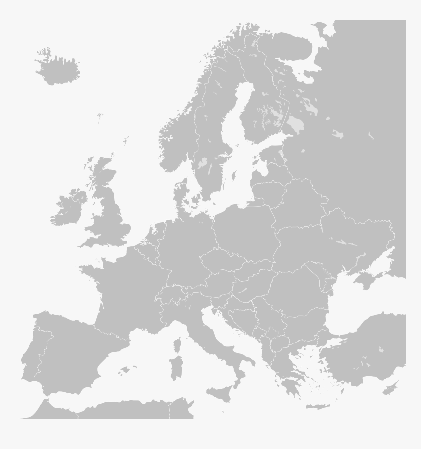 Europe Map One Colour, HD Png Download, Free Download