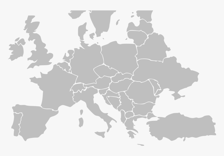Blank Map Of Europe Png , Png Download - Western Europe Map Vector, Transparent Png, Free Download