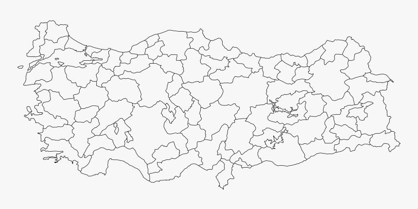 800px Turkey Provinces Blanksvg - Turkey Blank Map Regions, HD Png Download, Free Download