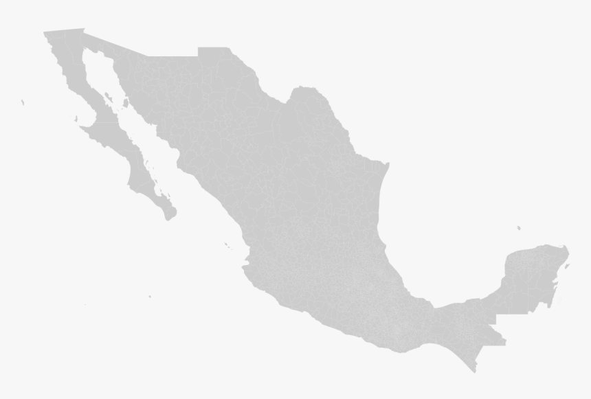 Municipalities Of Mexico - Vector Mapa De Mexico Png, Transparent Png, Free Download