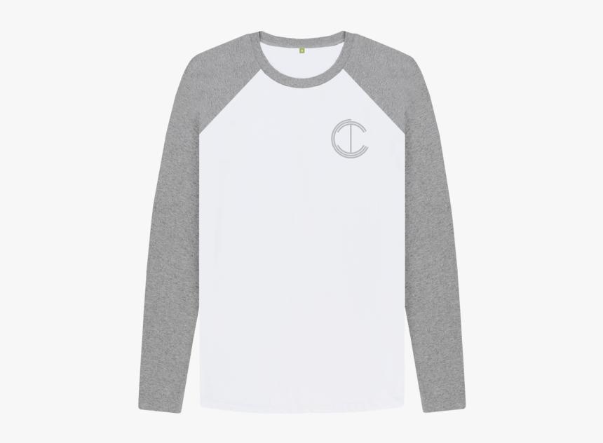 Long Sleeve Baseball T Shirt Grey, HD Png Download, Free Download