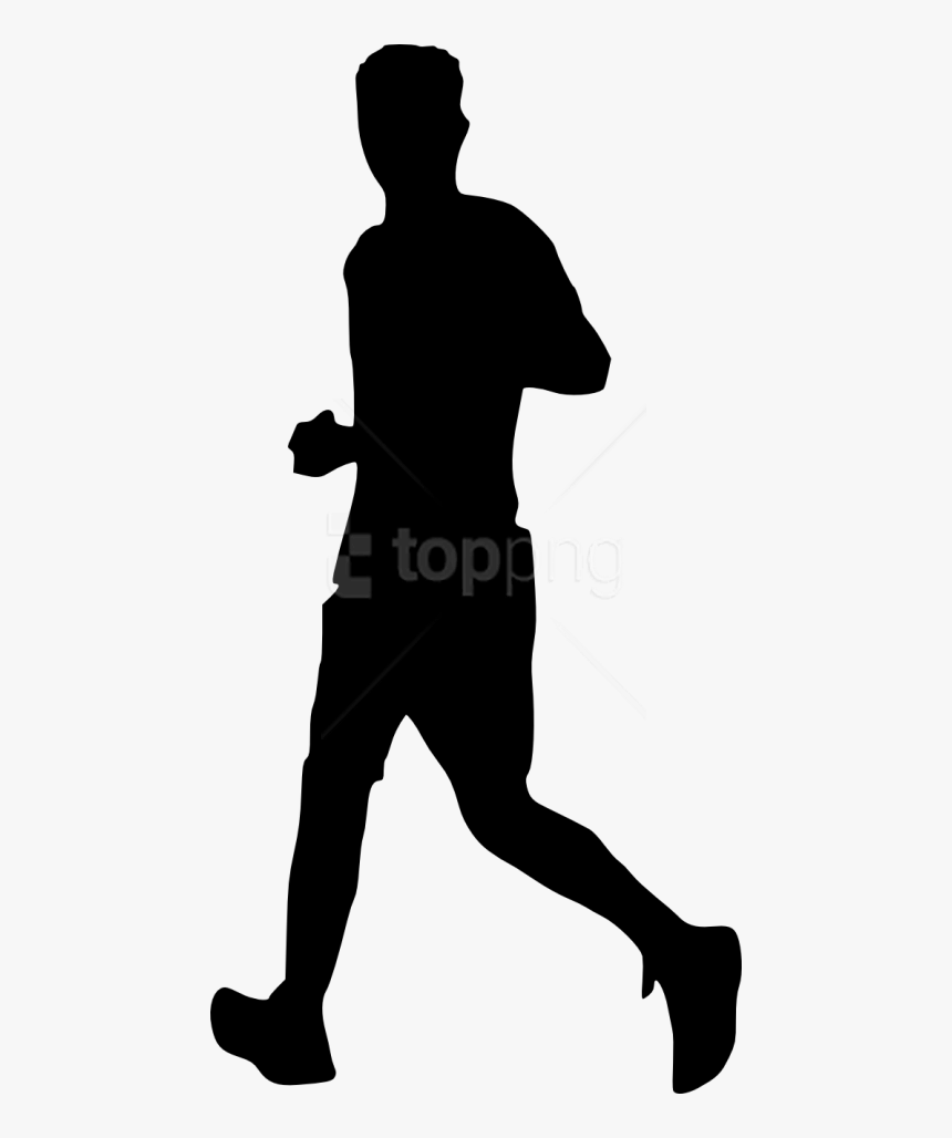 Free Png Man Running Silhouette Png - Silhouette People Running Png, Transparent Png, Free Download