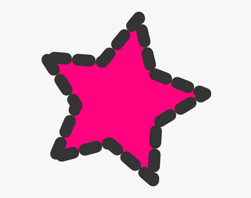 Pink Dotted Star Clip Art At Clker - Cute Star Cliparts, HD Png Download, Free Download