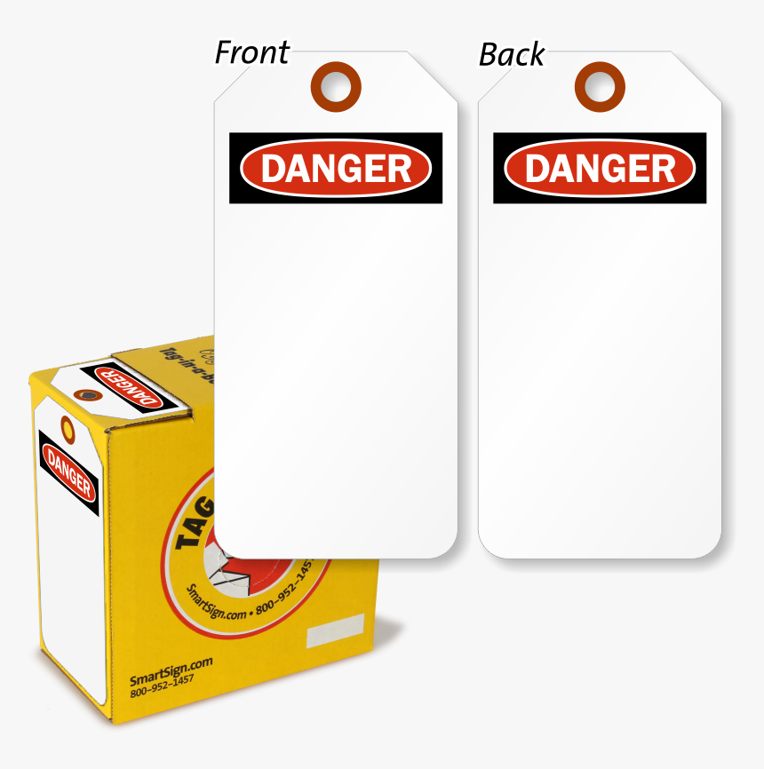Danger Lock Out Tag In A Box With Fiber Patch - Packaging And Labeling, HD Png Download, Free Download