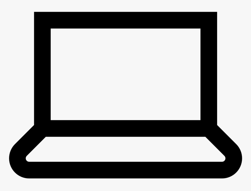 Laptop Png Black And White, Transparent Png, Free Download