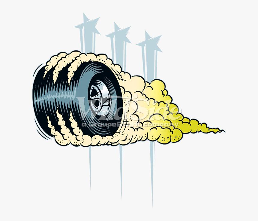 Tire Smoke Png - Smoking Tire Illustration, Transparent Png, Free Download