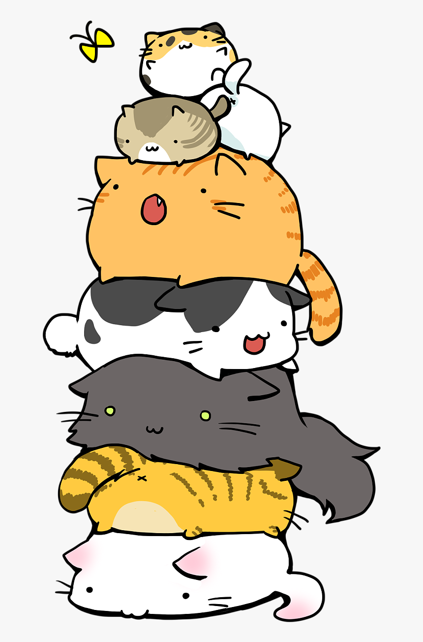 Cat Pile Sigh Keep Finding Cute Cat Pics Anime Cat Wallpaper Iphone Hd Png Download Kindpng