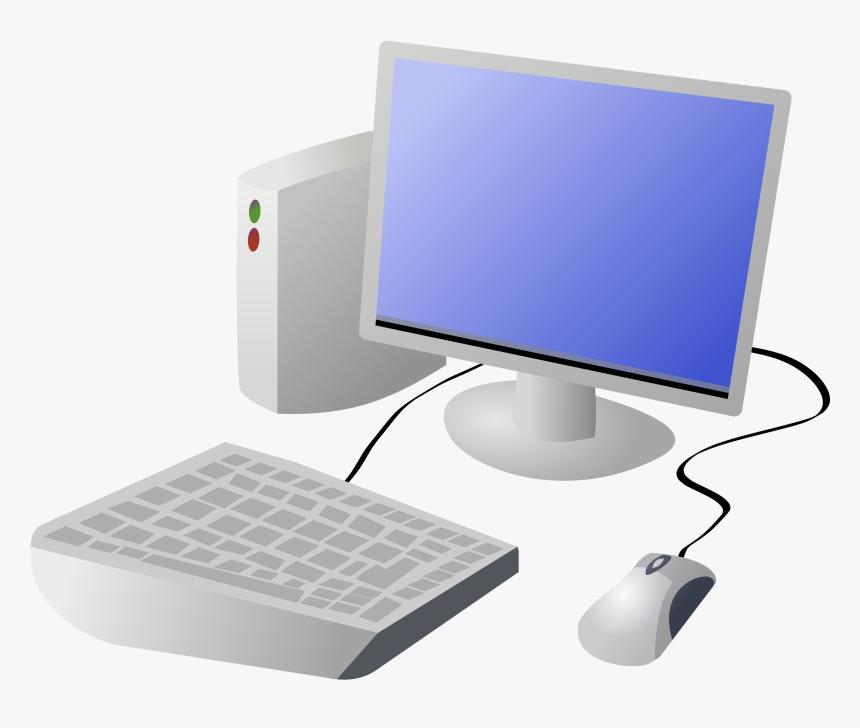 Cartoon Computer And Desktop Png - Transparent Background Computer Clipart, Png Download, Free Download