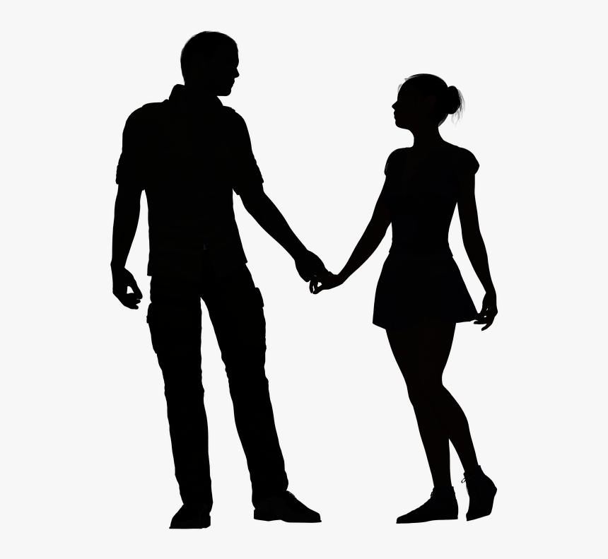Couple Holding Hands Silhouette, HD Png Download, Free Download