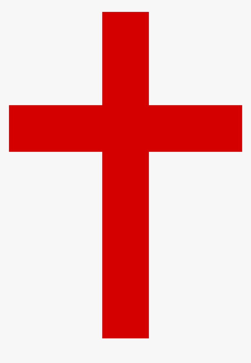 Red Christian Cross Png, Transparent Png, Free Download