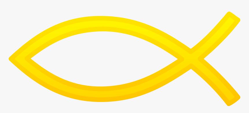 Transparent Christian Cross Designs Clip Art - Gold Christian Fish Symbol, HD Png Download, Free Download