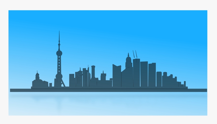 9 China Skyline Vector Png Images - Positive Negative Art Buildings, Transparent Png, Free Download