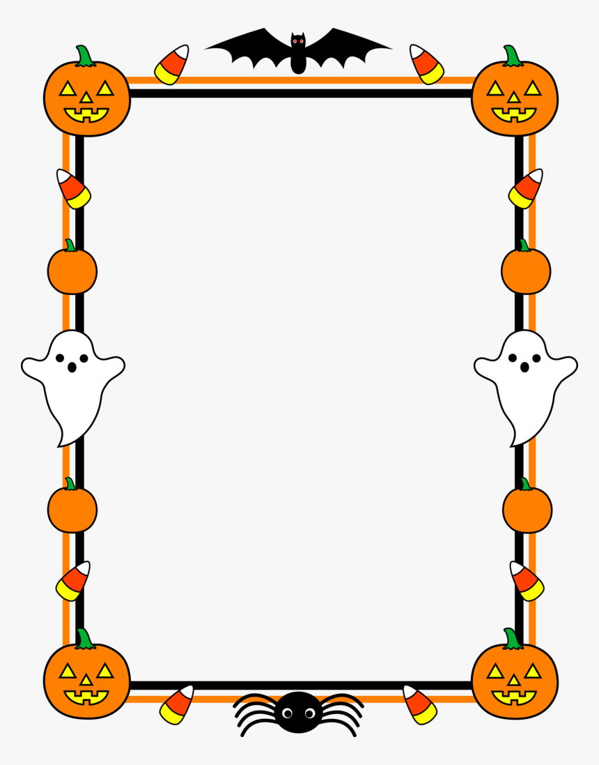Halloween Page Border Free, HD Png Download, Free Download