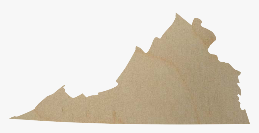 Virginia State Wood Cutout - Virginia 2019 Election Results Map, HD Png Download, Free Download