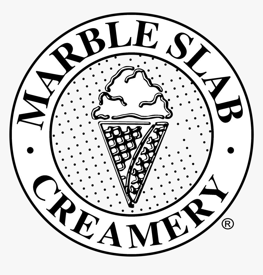 Marble Slab Creamery Logo Black And White - Marble Slab Creamery Logo, HD Png Download, Free Download