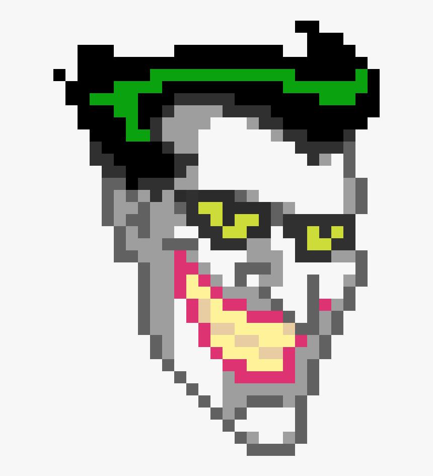 Joker Pixel Art Minecraft , Png Download - Animated Joker Face Png, Transparent Png, Free Download