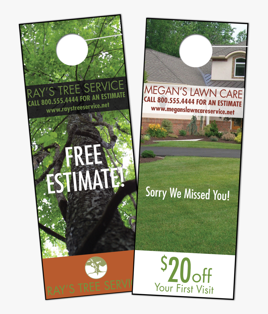 Door Hangers - Door Hangers For Lawn Care Business, HD Png Download, Free Download