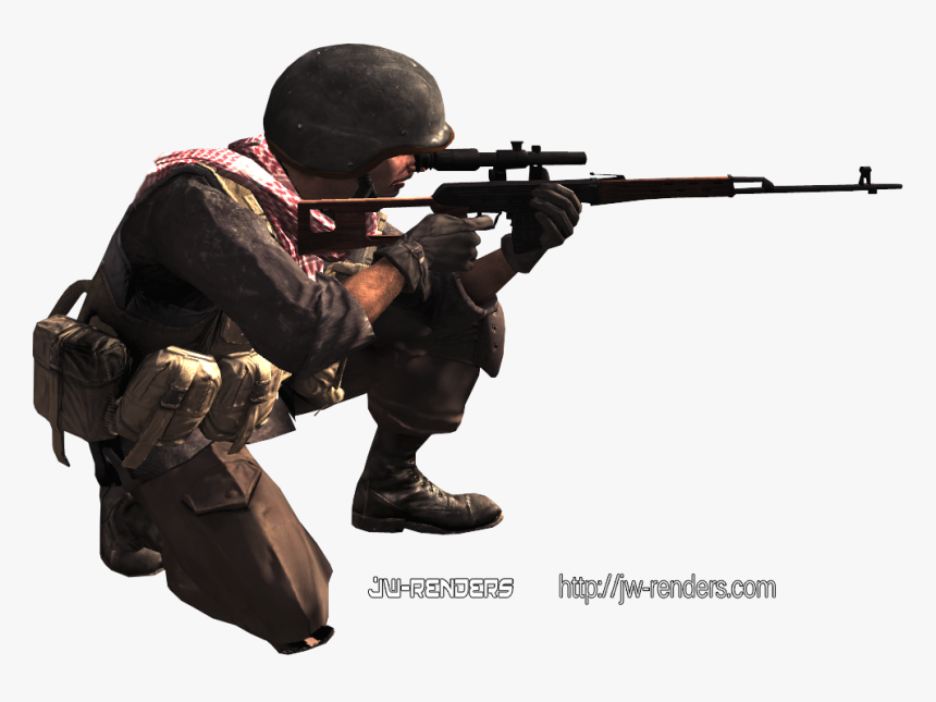 Call Of Duty Ghosts Sniper Png For Kids - Call Of Duty Character Png, Transparent Png, Free Download