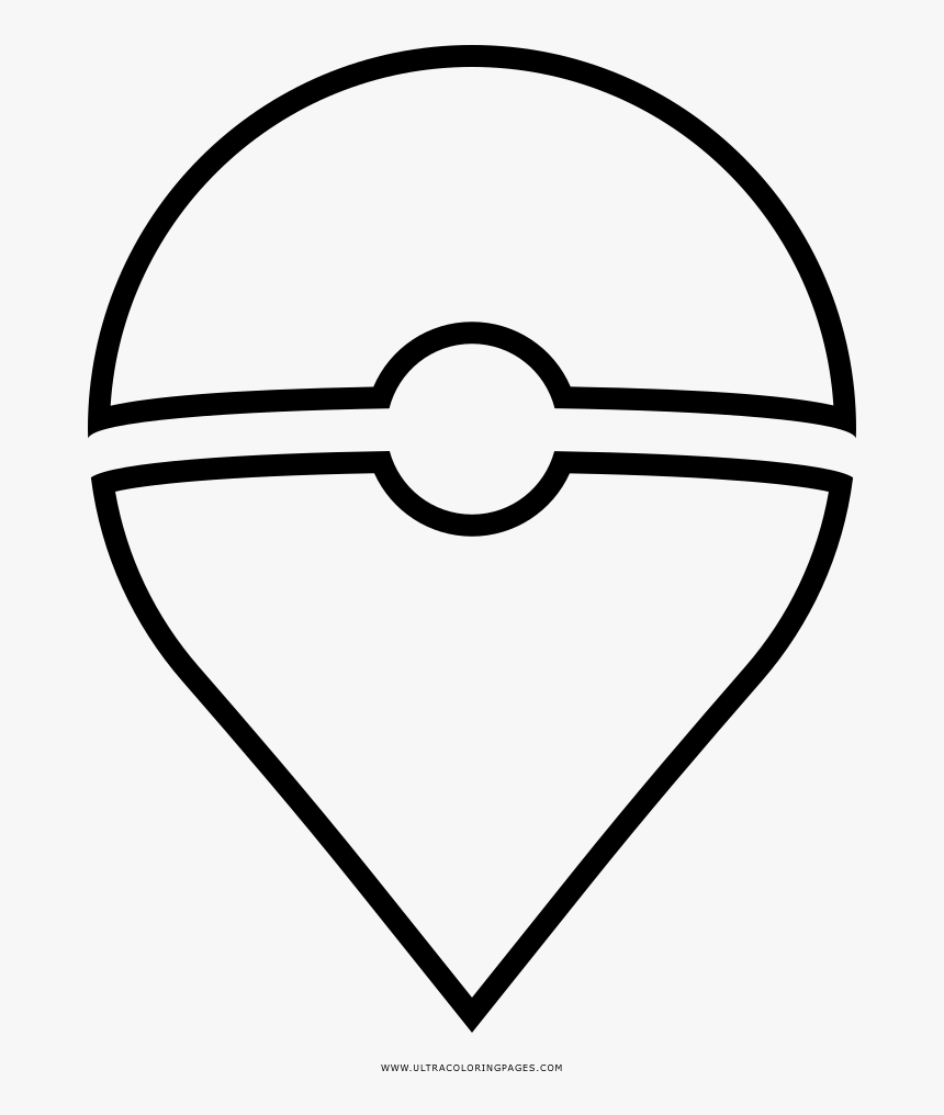 Pokemon Go Coloring Page - Pokemon Pokeball Coloring Pages, HD Png Download, Free Download