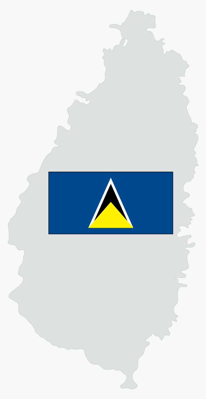 St Lucia Flag, HD Png Download, Free Download
