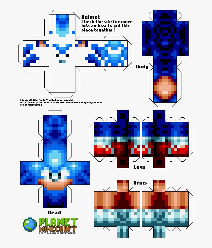 Skin De Sonic Para Minecraft, HD Png Download, Free Download