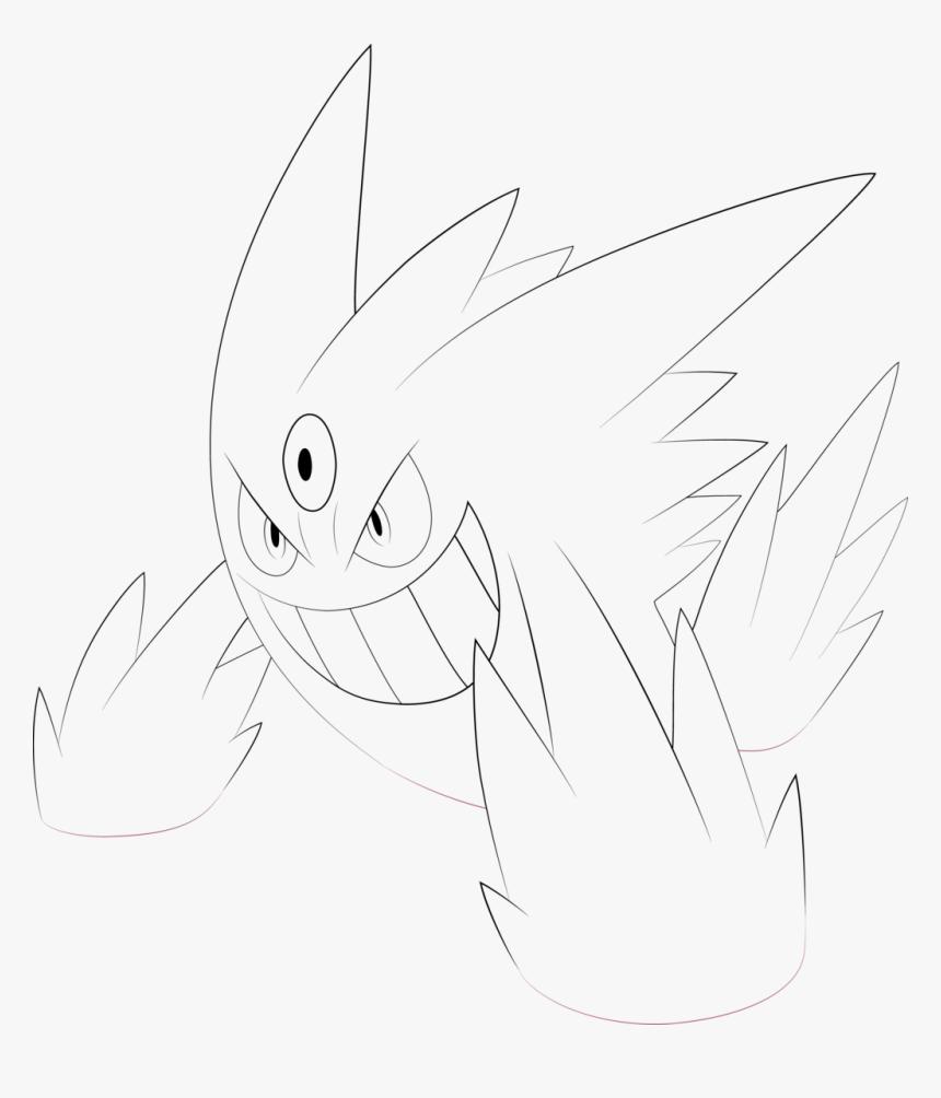 Pokemons Mega Gengar Para Colorir Hd Png Download Kindpng